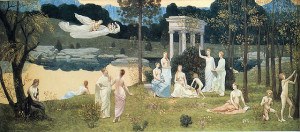 Art and the Muses by Pierre Puvis de Chavannes (Wikimedia)