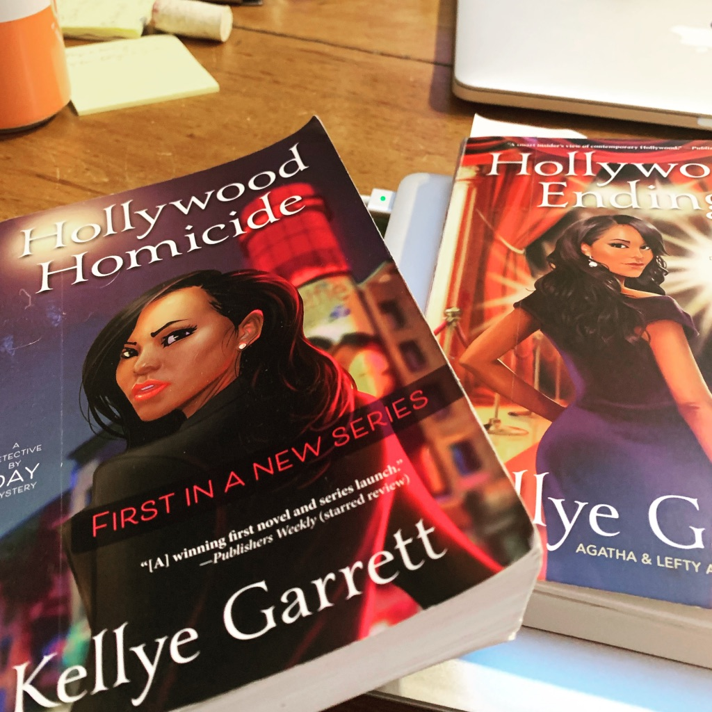 Picture of Kellye Garrett's Hollywood Homicide and Hollywood Ending books
